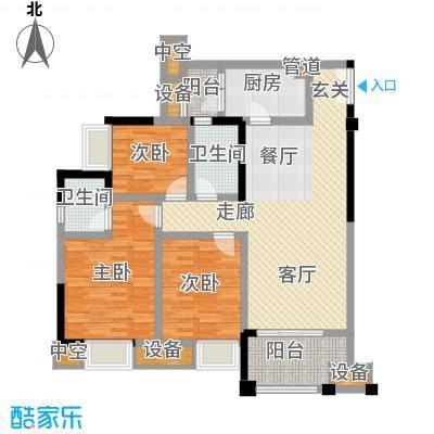 财信沙滨城市92.18㎡一期11号楼标准层D户型