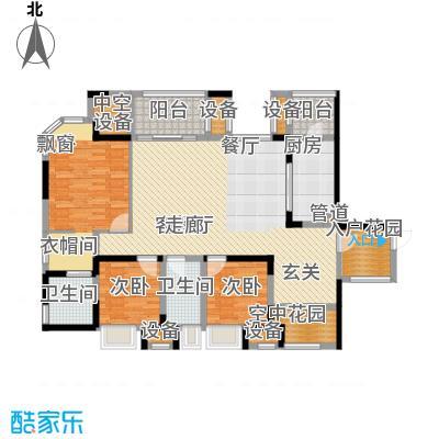 融创御锦117.12㎡1期3-1号楼4-14面积11712m户型