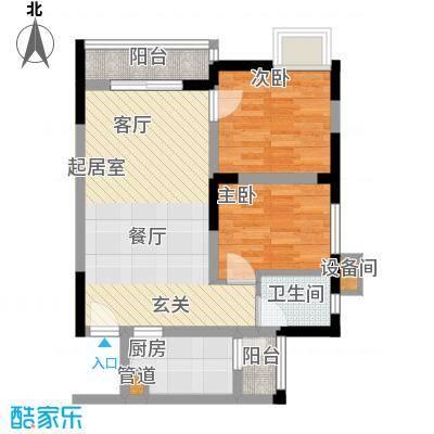 南滨国际60.18㎡一期A栋/B栋标准层E户型