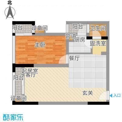 南滨国际59.03㎡一期A栋/B栋标准层B户型