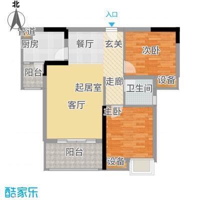 明华龙洲半岛四期老街古镇82.66㎡一期3、4、5栋标准层8号户型
