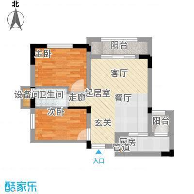 江山领秀75.00㎡一期1/2/12-15号楼标准层洋房A1户型