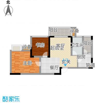 东邦城市广场62.40㎡三期13号楼标准层4/8号房户型