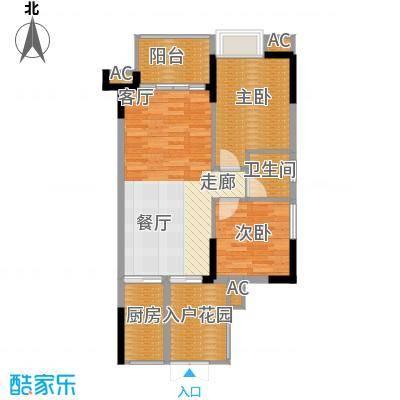 中冶黛山壹品79.20㎡一期5号楼标准层3/4/7/8号房户型