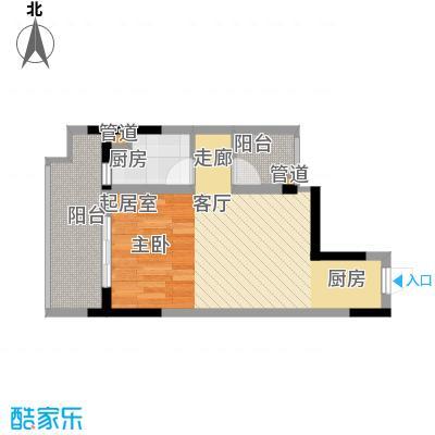 劲力五星城自由地40.00㎡二期6号楼标准层优+公寓户型
