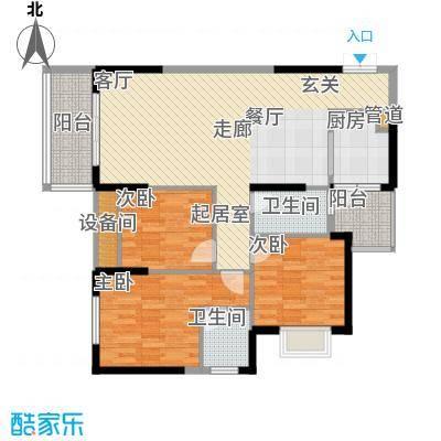桓大东方国际一期6号楼标准层C户型