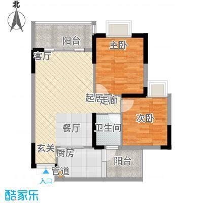 桓大东方国际83.17㎡一期6号楼标准层B户型