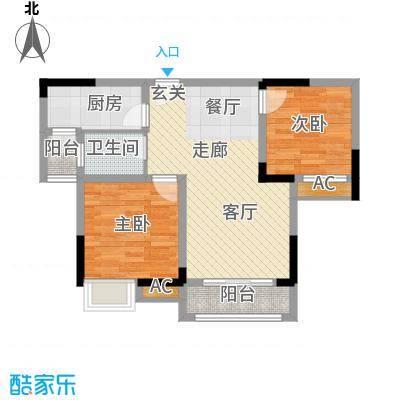 科艺花漾年70.30㎡二期花园电梯5号楼洋房标准层D3户型