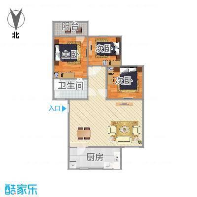 建兴小区三室两厅户型图