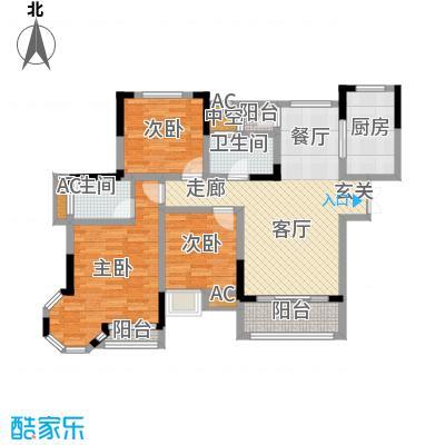 科艺花漾年116.00㎡二期花园电梯洋房标准层A户型