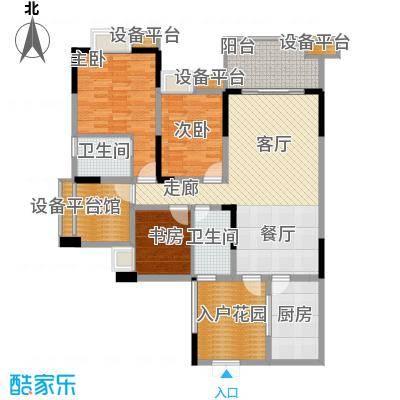 三江希望城121.76㎡一期5号楼标准层5-15-2户型