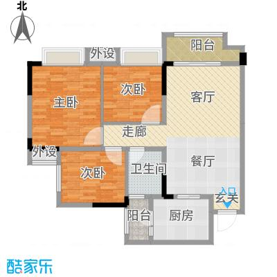 中国铁建公园115978.60㎡一期1、2幢标准层A户型