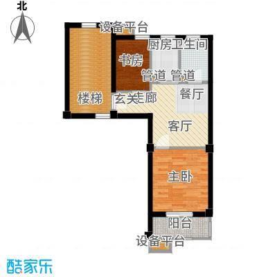 米兰花园二期50.80㎡单身公寓50面积5080m户型