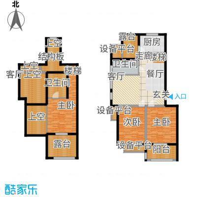 金世纪铭城华庭121.80㎡B4跃层3面积12180m户型