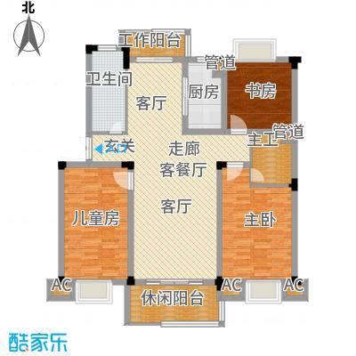 浙水阳光天地123.00㎡普通住宅D户面积12300m户型
