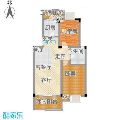 浙水阳光天地87.00㎡普通住宅A户面积8700m户型