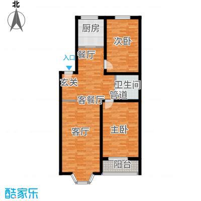 阳光新馨家园102.00㎡C2面积10200m户型