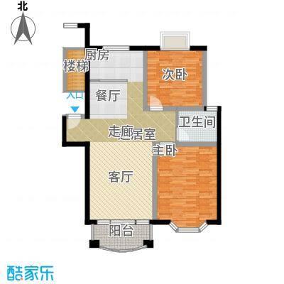 明都锦绣苑88.00㎡普通住宅面积8800m户型