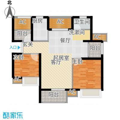 亿丰怡家公馆88.00㎡G3户型