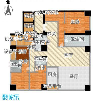融创玖玺台320.00㎡一期3号楼标准层B户型