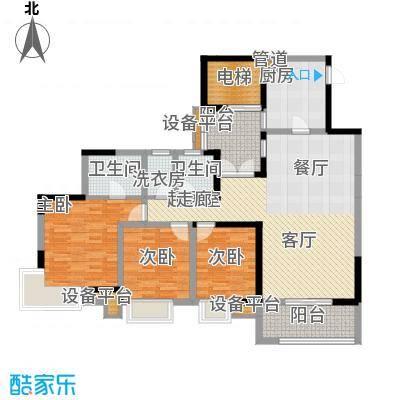 凤凰湾驭府112.21㎡二期31、40栋标准层B2户型