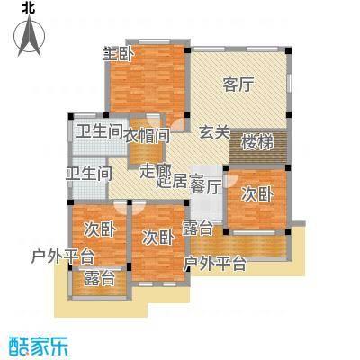 塑皇观云邸294.26㎡一期13栋D二层户型