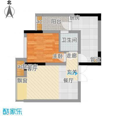 科艺福江名都41.77㎡1期7号楼标准层10号房户型