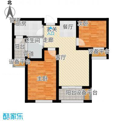 邦泰中央花城72.00㎡三期H户型