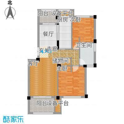 邦泰中央花城89.00㎡A户型