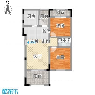 奇峰云邸63.00㎡二期23号楼标准层A户型