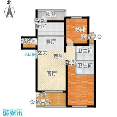 邦泰中央花城102.00㎡三期J1a户型