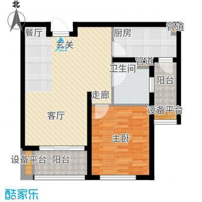 邦泰中央花城65.00㎡三期H1b户型