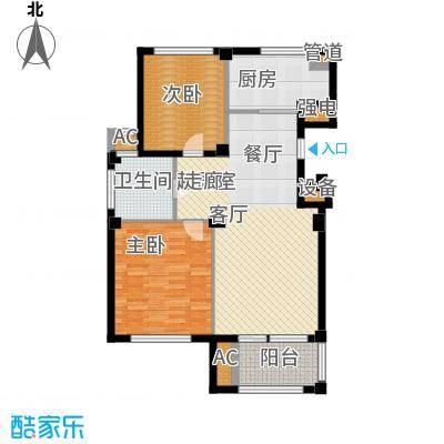 东方公寓96.00㎡1、2号楼A户型