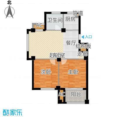 东方公寓88.70㎡5号楼D户型