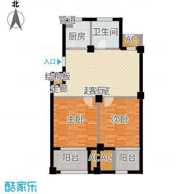 东方公寓88.30㎡5号楼E户型