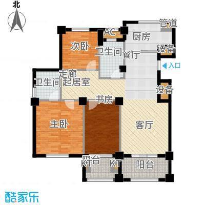东方公寓120.40㎡4号楼C户型