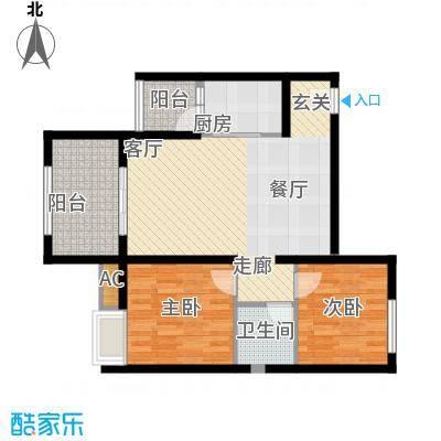 奇峰云邸63.00㎡二期23号楼标准层C4户型