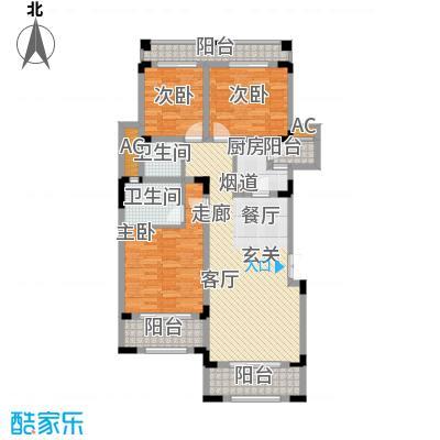 奇峰云邸90.03㎡一期1-3号楼标准层A2-3户型