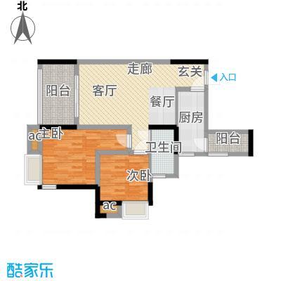 巨龙江山国际79.35㎡2期高层14、15号楼标准层H1-3户型