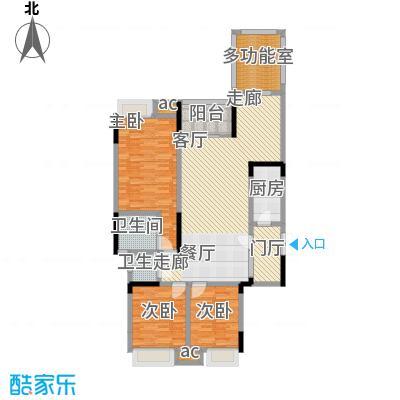 巨龙江山国际126.86㎡1期洋房1/2/6/7栋标准层D2户型