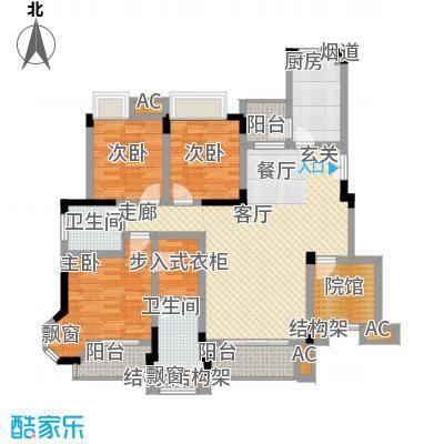 爱情谷107.00㎡一期7、8、9、10、11、12号楼标准层C4户型