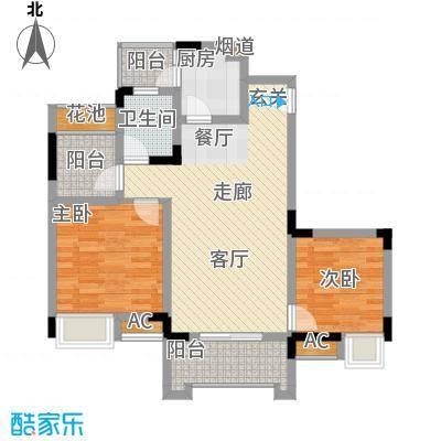 爱情谷70.00㎡一期1、2、3、4、5号楼标准层B2户型