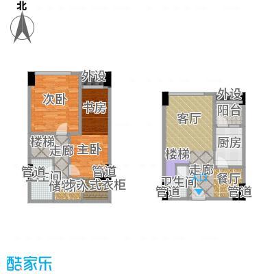 兰花丽景添丁55.00㎡一期3栋标准层A1户型