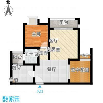 琳昌上上城54.68㎡一期2号楼标准层A3户型