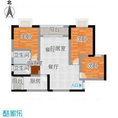 乔鹤西苑98.78㎡一期1号楼标准层A1户型