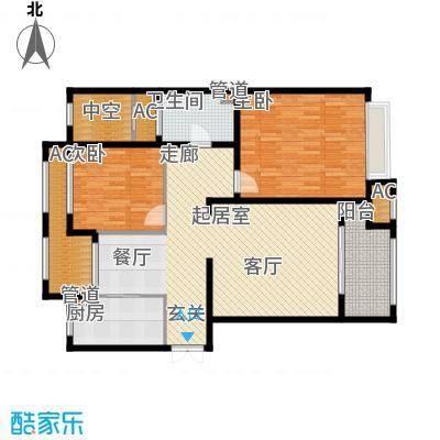 融信新新家园108.00㎡B户型