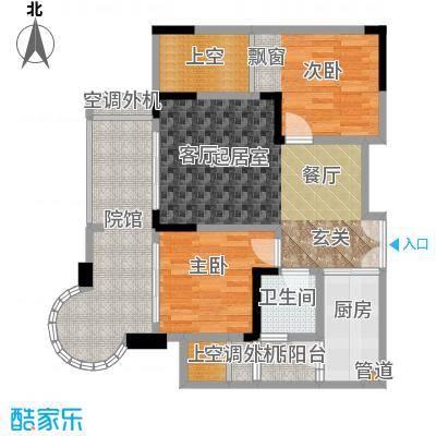 银翔城60.85㎡1期3、4栋楼标准层B4户型