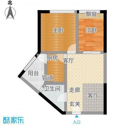 郁金香国际公寓50.16㎡二期B栋标准层1号户型
