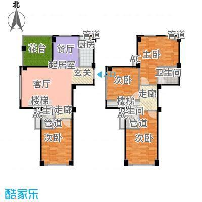 新宏香榭丽舍117.00㎡新宏・香榭丽舍C1-2跃户型