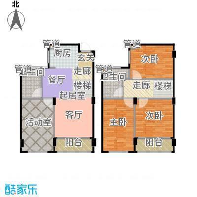 新宏香榭丽舍95.00㎡新宏・香榭丽舍B2-1跃户型